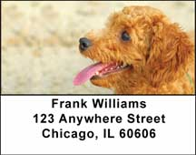 Toy Poodle Address Labels