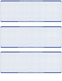 Blue Safety Blank High Security 3 Per Page Laser Checks