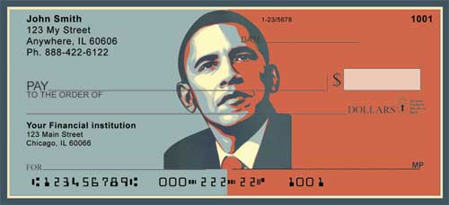 Obama Red and Blue Personal Checks