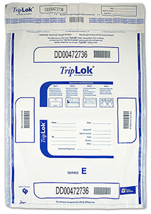 Deposit Bag 15'' X 20'' TripLok, white w/pocket