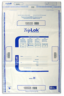 Deposit Bag 20'' X 28'' TripLok, white