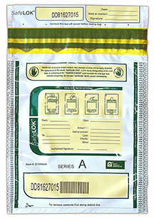 Deposit Bag 9'' X 12'' SafeLok, white w/pocket