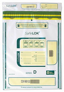 Deposit Bag 12'' X 16'' SafeLok, clear