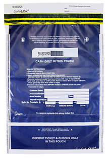 Deposit Bag 14'' X 20'' SafeLok, clear vertical twin