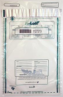 Deposit Bag 12'' X 16'' EcoLok, clear