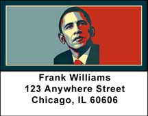 Obama Red and Blue Address Labels