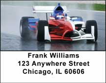 Formula 1 Racing Address Labels
