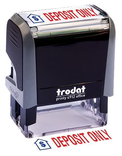 ''Deposit Only'' Message Stamp
