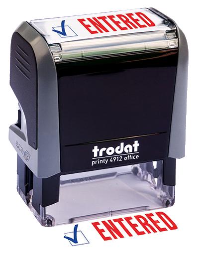 ''Entered'' Message Stamp