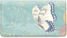 Beautiful Butterflies Leather Checkbook Cover