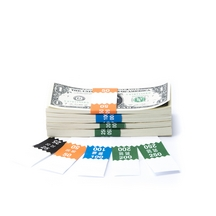 Saw-Tooth Color-Coded Low Dollar Currency Band Set
