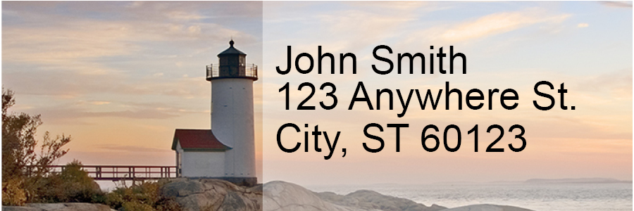 Lighthouses Scenic Views Rectangle Address Labels