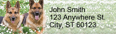 German Shepherd Rectangle Address Labels