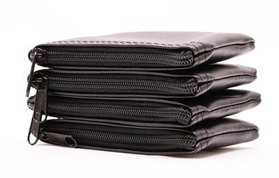 Black Zipper Wallet  3 X 4.5