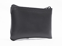 Black Zipper Wallet  3 X 4.5
