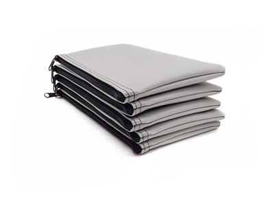 Grey Zipper Bank Bag 5.5 X 10.5