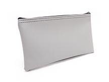 Grey Zipper Bank Bag 5.5 X 10.5