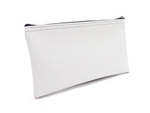 White Zipper Bank Bag 5.5 X 10.5