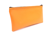 Orange Zipper Bank Bag 5.5 X 10.5