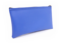 Blue Zipper Bank Bag 5.5 X 10.5