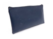 Navy Blue Zipper Bank Bag 5.5 X 10.5