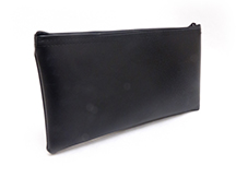 Black Zipper Bank Bag 5.5 X 10.5