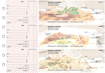 Italian Cuisine Standard Counter Signature Business Checks