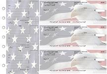 American Flag Standard Mailer Business Checks