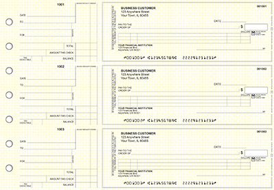 Yellow Knit Standard Itemized Counter Signature Business Checks