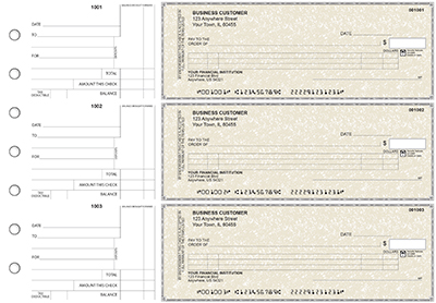 Tan Parchment Itemized Counter Signature Business Checks