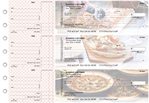Pizza Itemized Counter Signature Business Checks