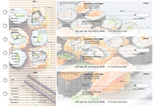 Japanese Cuisine General Itemized Invoice Business Checks