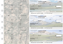 Scenic Mountains Multi-Purpose Corner Voucher Business Checks