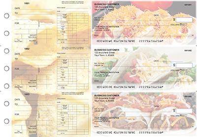 Mexican Cuisine Dual Purpose Voucher Business Checks