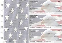 American Flag Dual Purpose Voucher Business Checks