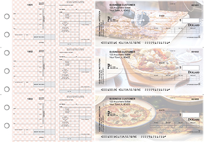 Pizza Payroll Invoice Business Checks