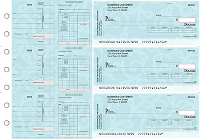 Swirls Payroll Invoice Business Checks