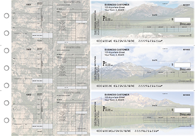 Scenic Mountains Payroll Invoice Business Checks