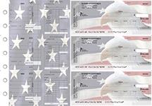 American Flag Payroll Invoice Business Checks