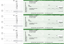 Green Marble Invoice Business Checks