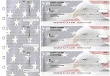 American Flag Invoice Business Checks