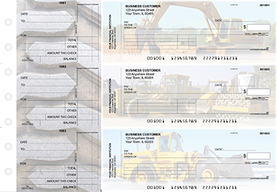 Construction Standard Invoice Business Checks
