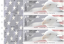 American Flag Standard Invoice Business Checks