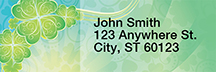 Shamrock Shuffle Rectangle Address Labels