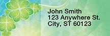 Shamrock Shuffle Rectangle Address Labels