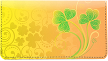 Shamrock Shuffle Leather Checkbook Cover