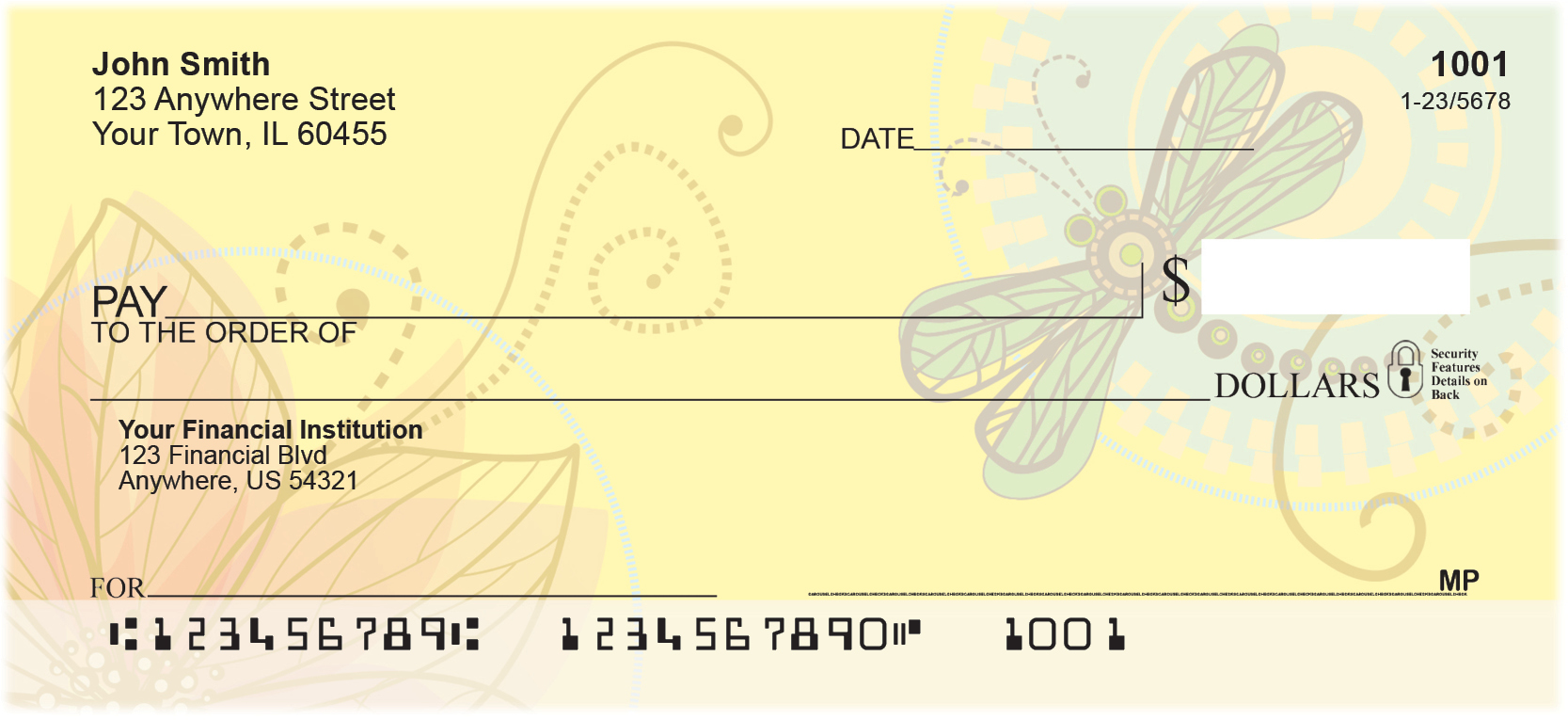 Garden Dragonflies Personal Checks