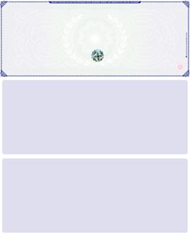 Blue Green Blank Hologram Top Laser Checks