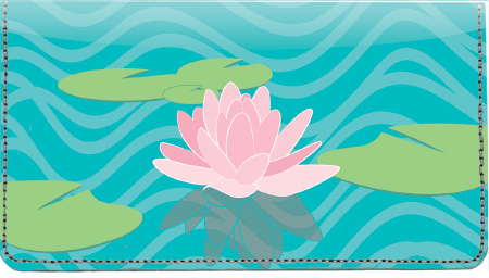 Water Lilies Leather Cover