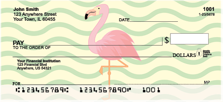 Wading Flamingos Personal Checks
